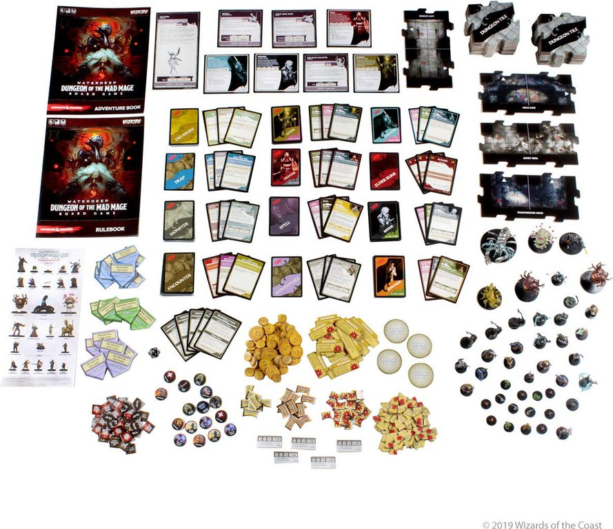 Waterdeep: Dungeon of the Mad Mage (Premium edition) components