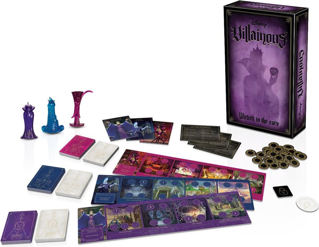 Villainous: Wicked to the Core components