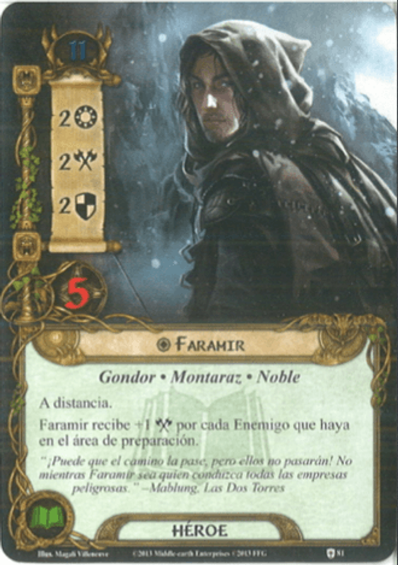 The Lord of the Rings: The Card Game - Assault on Osgiliath Faramir card