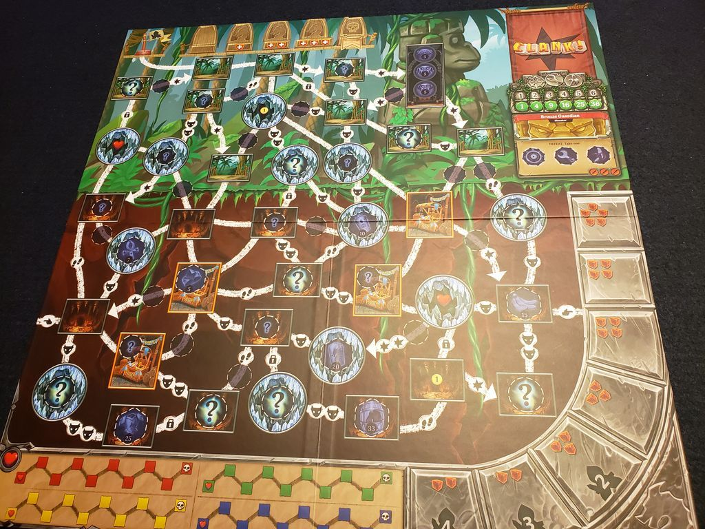 Clank! Expeditions: Temple of the Ape Lords game board