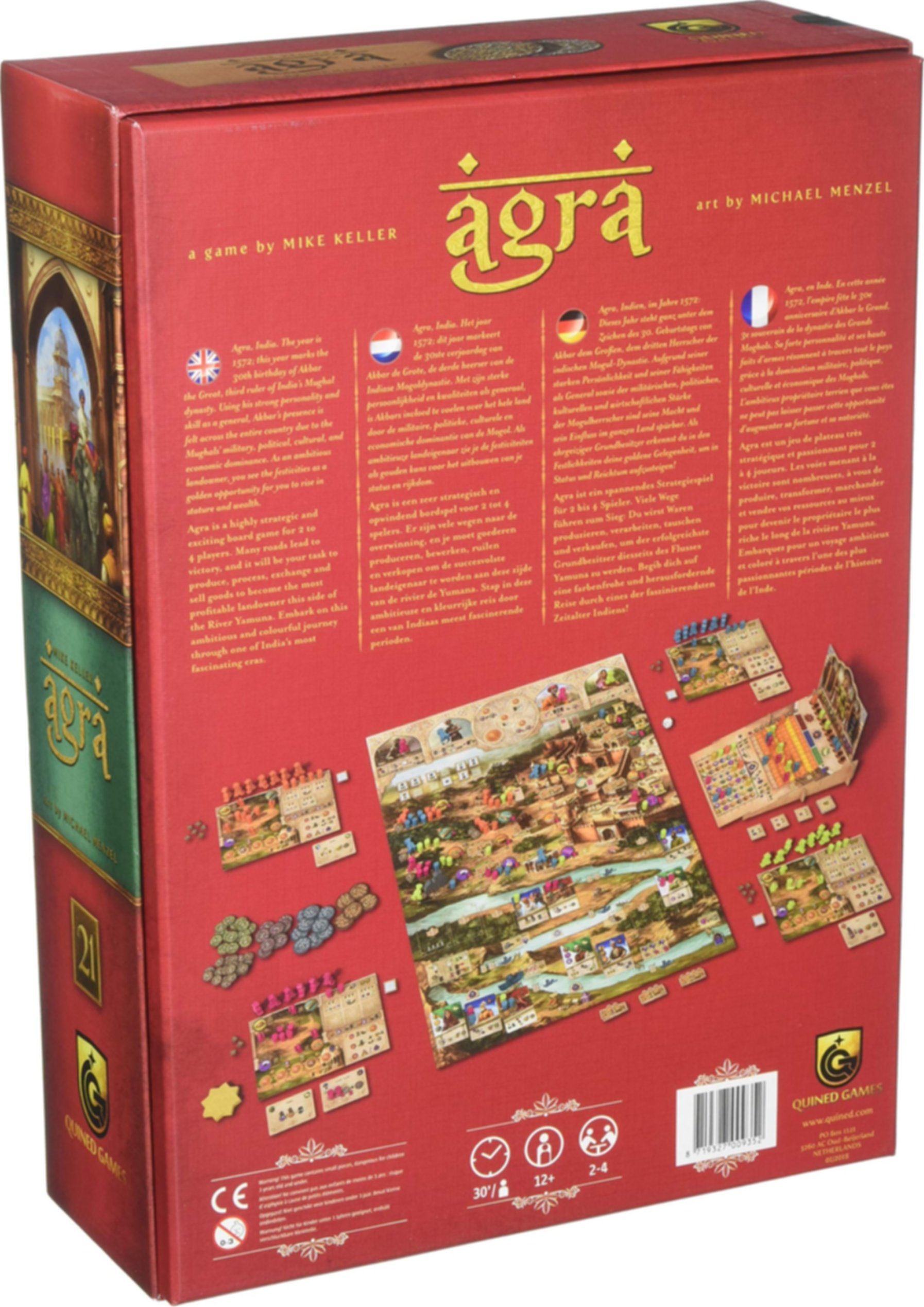 Agra back of the box