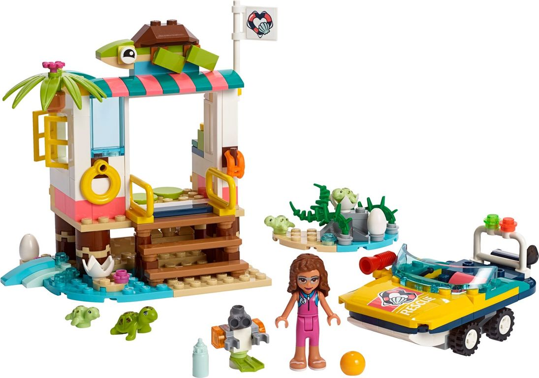 LEGO® Friends Turtles Rescue Mission components