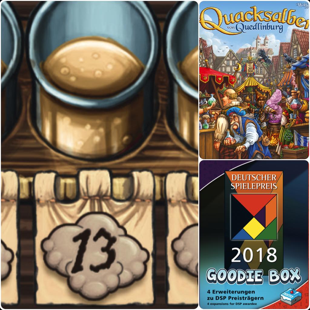 Deutscher Spielepreis 2018 Goodie Box components