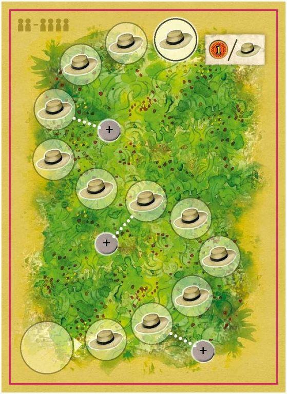 La Granja: The Dice Game - No Siesta! game board