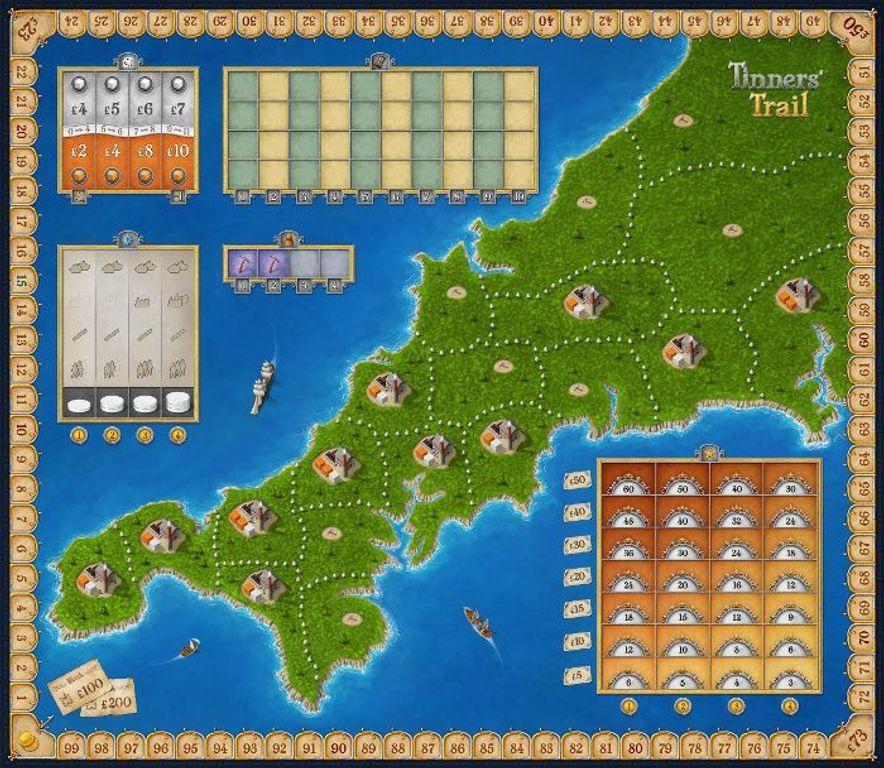 Tinners' Trail game board
