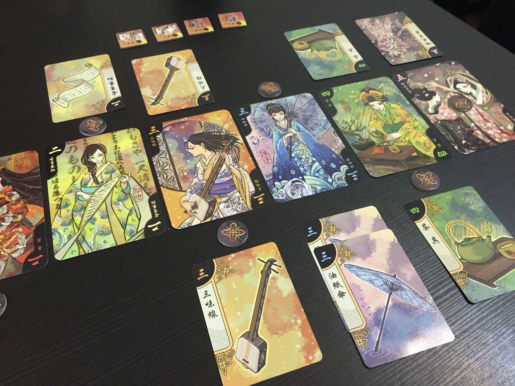Hanamikoji gameplay