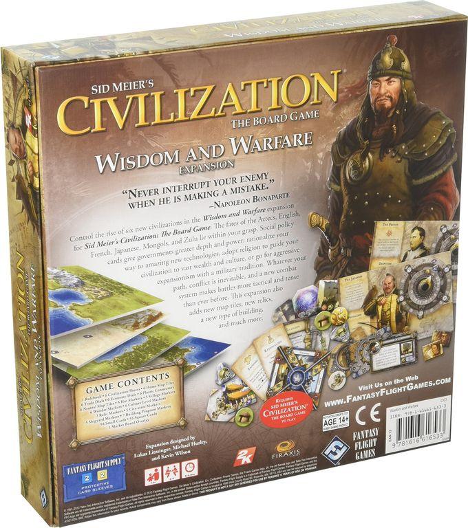 Sid Meier's Civilization: The Board Game - Wisdom and Warfare back of the box