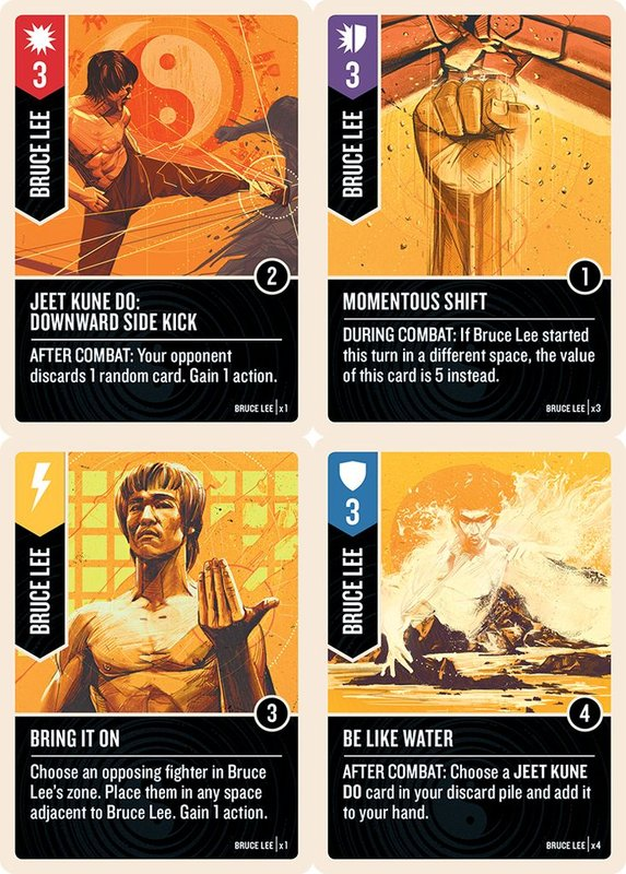 Unmatched: Bruce Lee cards