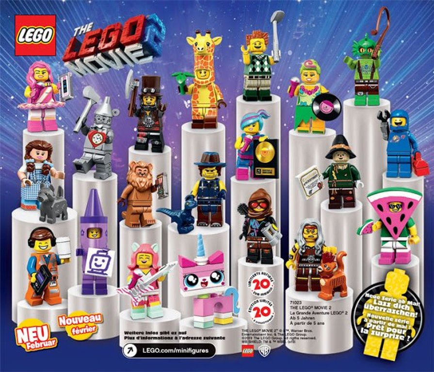 LEGO® Minifigures The LEGO® Movie 2 Minifigures back of the box