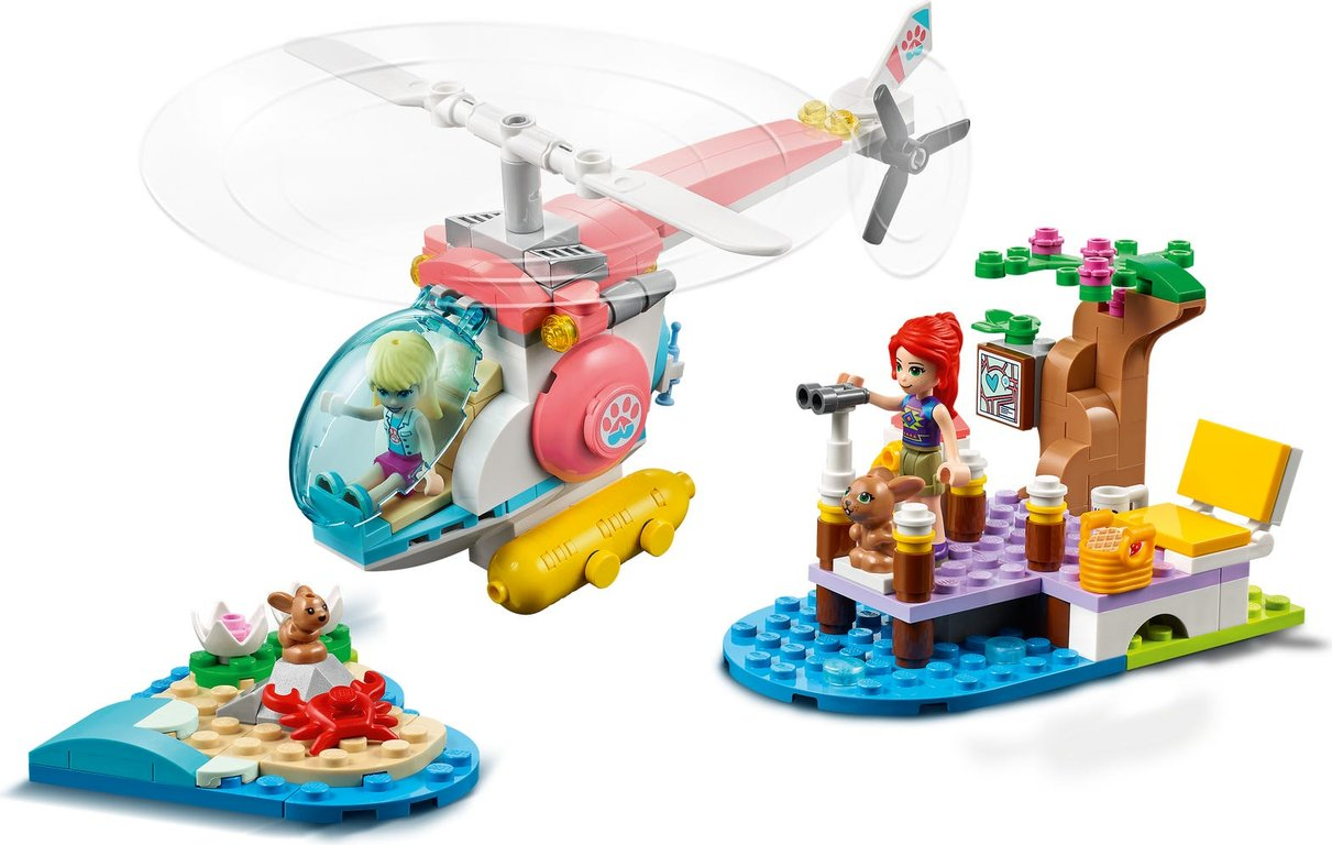 LEGO® Friends Vet Clinic Rescue Helicopter gameplay