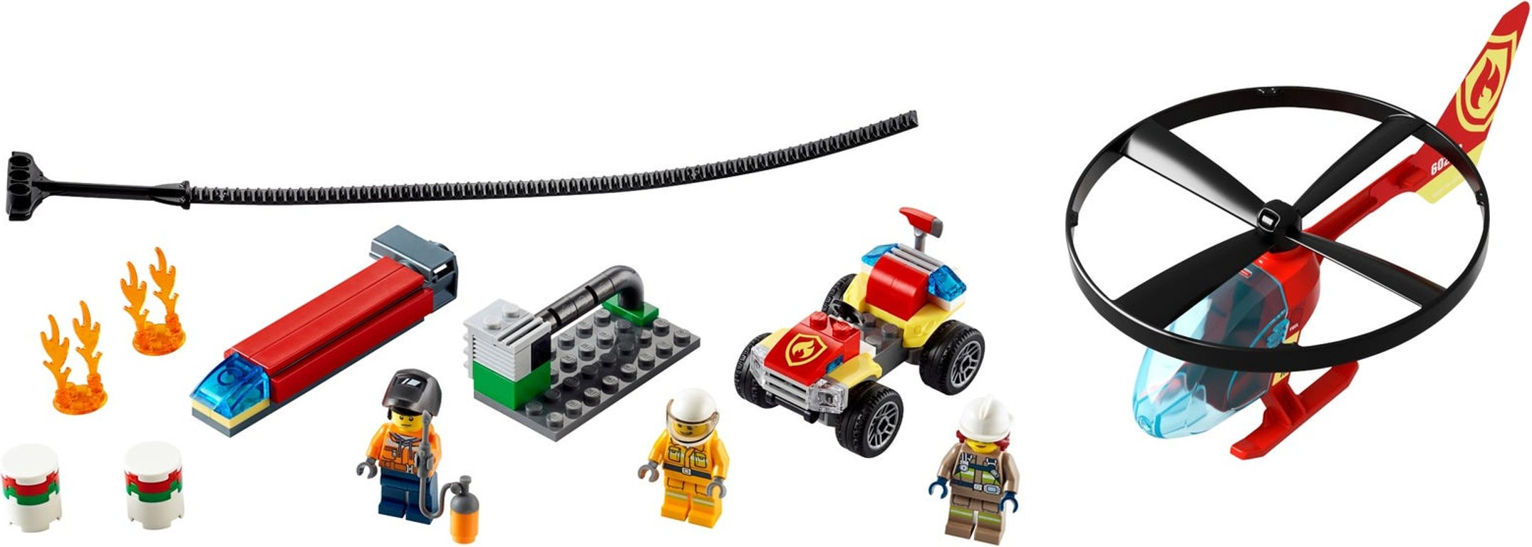 LEGO® City Fire Helicopter Response components