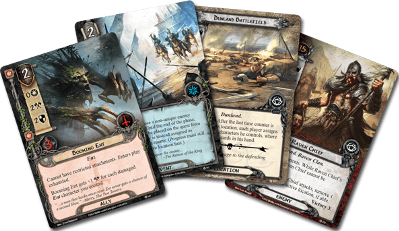 The Lord of the Rings: The Card Game - The Antlered Crown cards