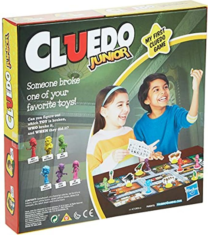 Clue Junior: Case of the Broken Toy back of the box