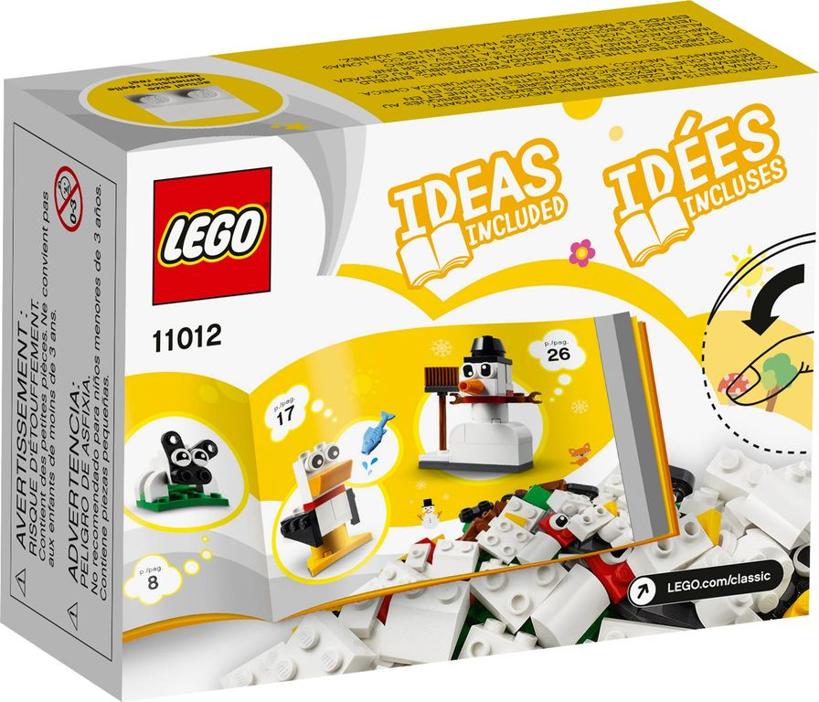 LEGO® Classic Creative White Bricks back of the box