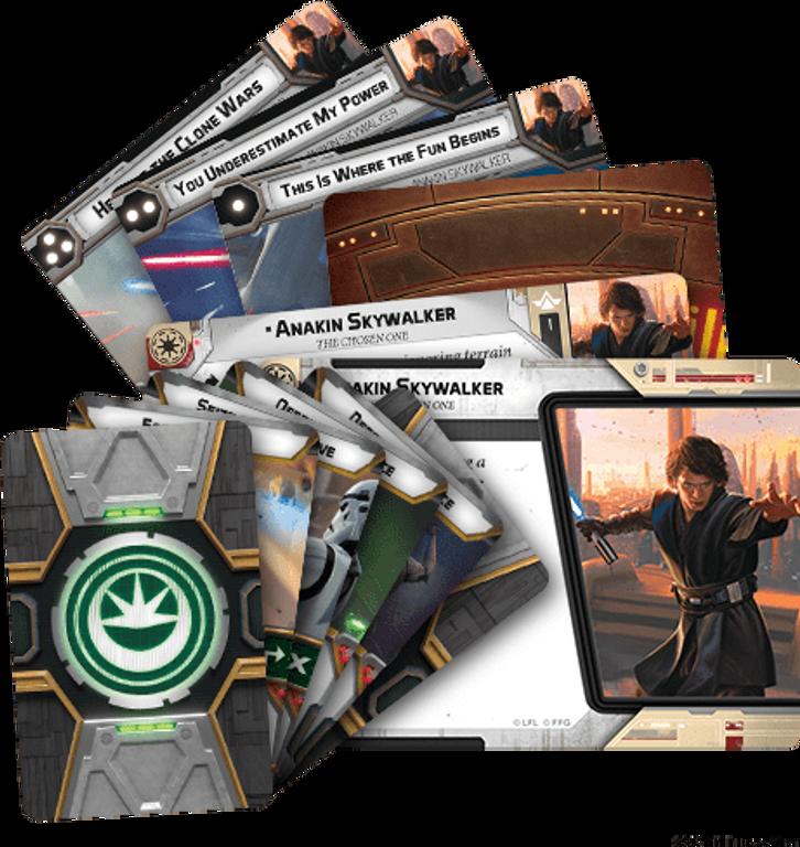 Star Wars: Legion – Anakin Skywalker Commander Expansion components