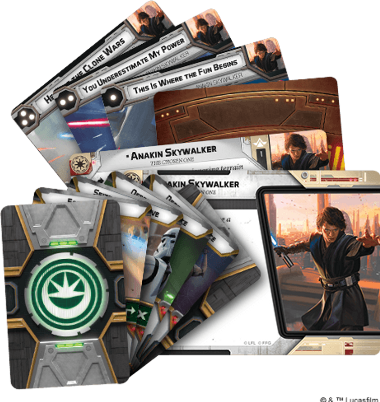Star Wars: Legion – Anakin Skywalker Commander Expansion composants