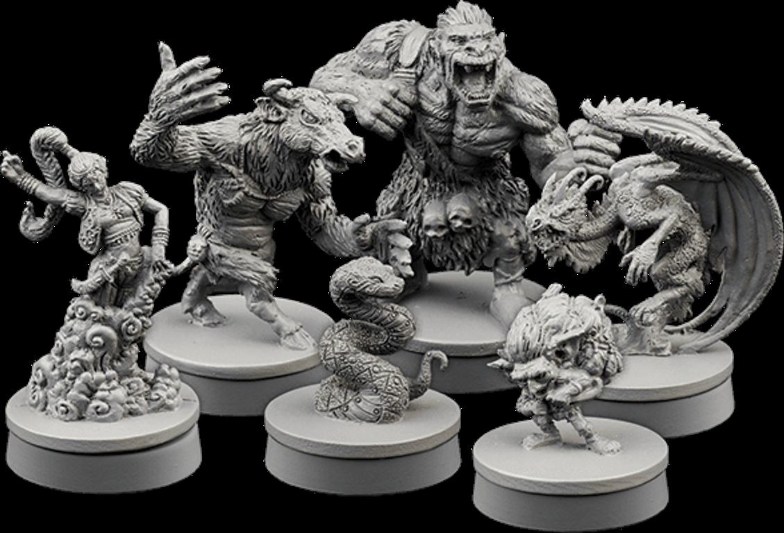 Wiz-War: Bestial Forces miniatures