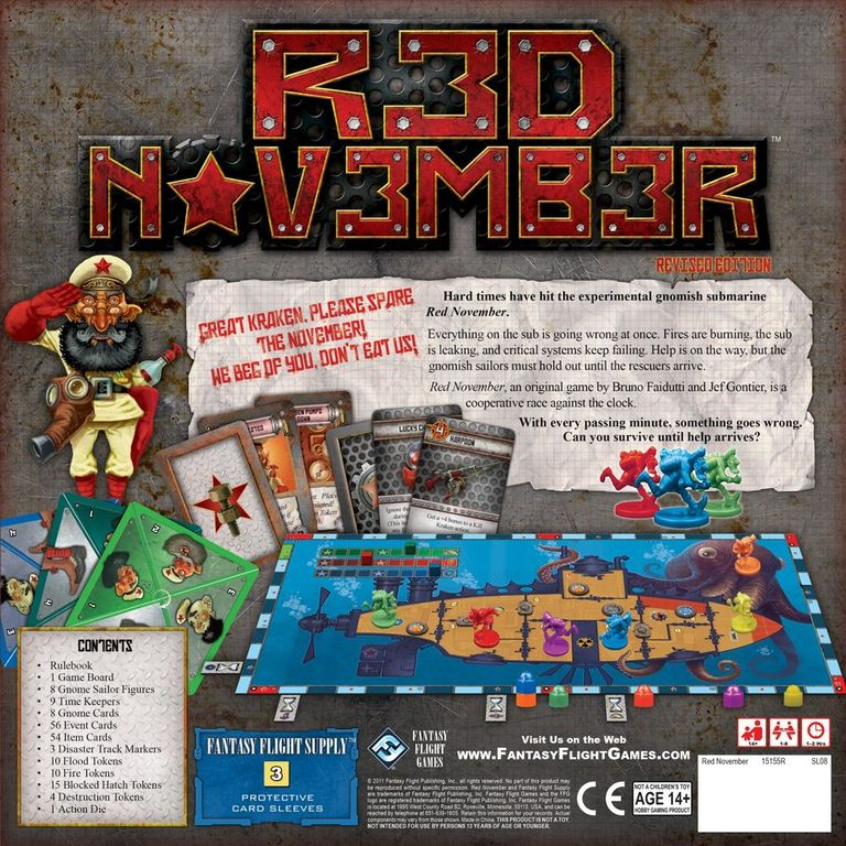 Red November back of the box