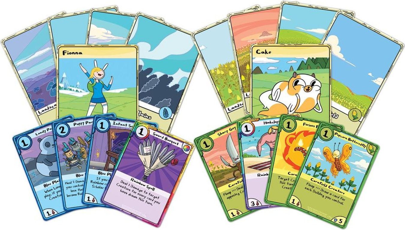 Adventure Time Card Wars: Fionna vs Cake cards