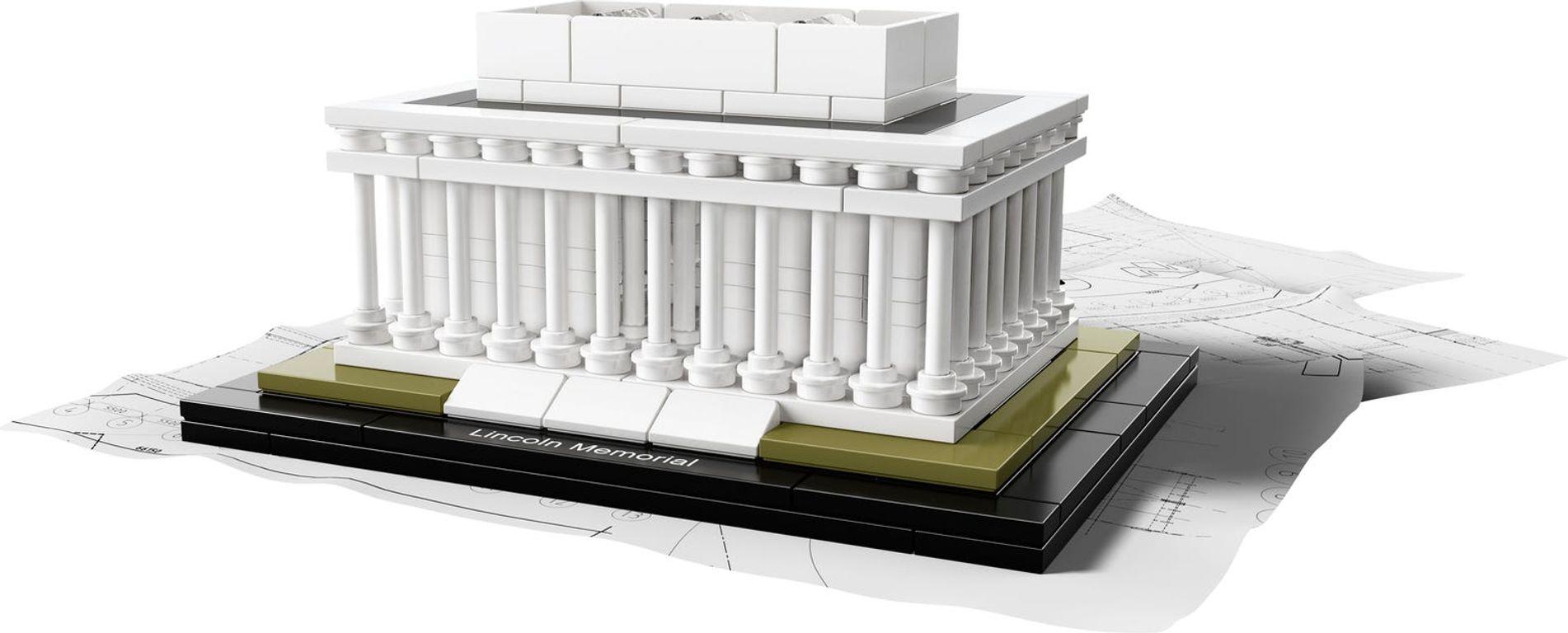 LEGO® Architecture Lincoln Memorial components