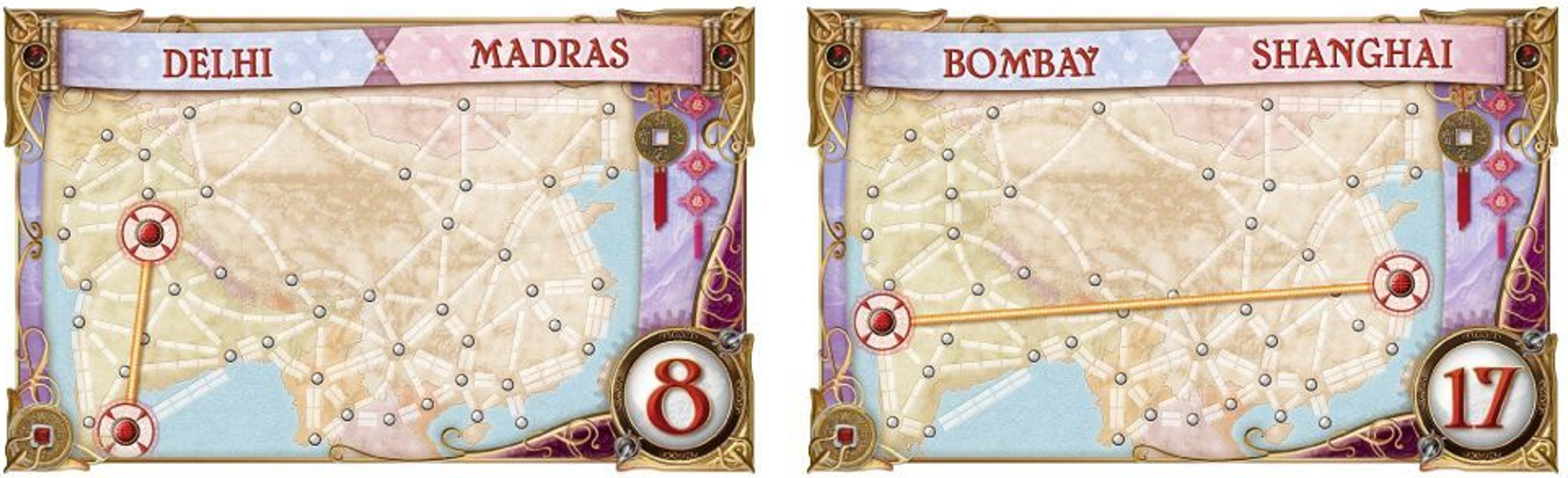Ticket to Ride Map Collection: Volume 1 - Team Asia & Legendary Asia cartes