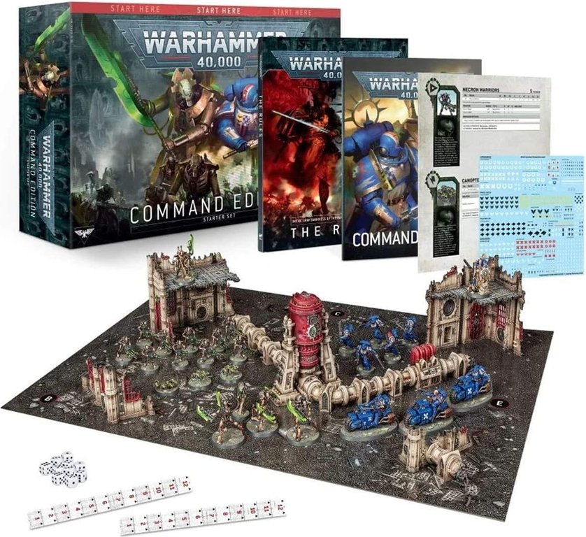Warhammer 40,000 Command Edition Starter Box components