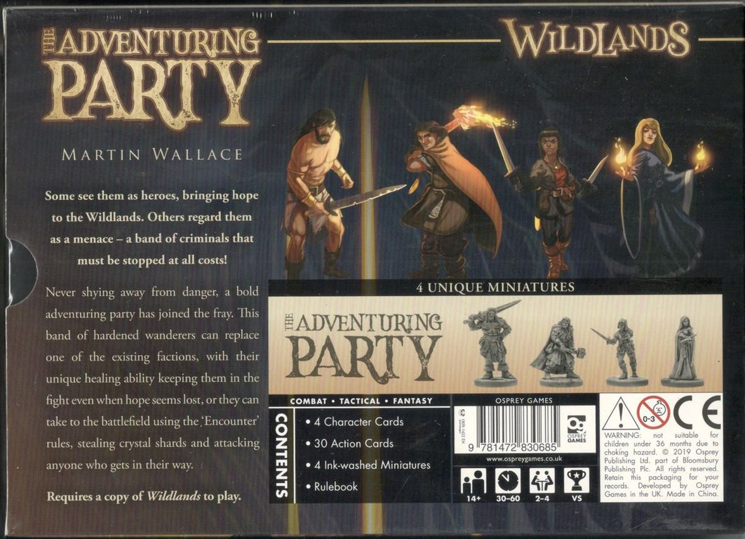 Wildlands: The Adventuring Party back of the box