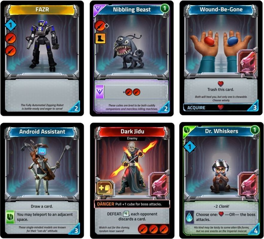 Clank! In! Space! cards