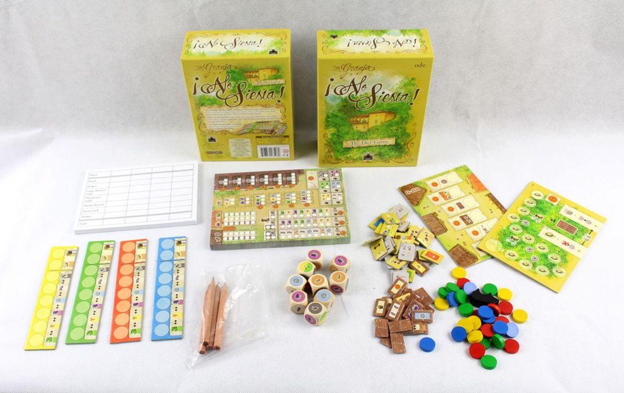 La Granja: The Dice Game - No Siesta! components
