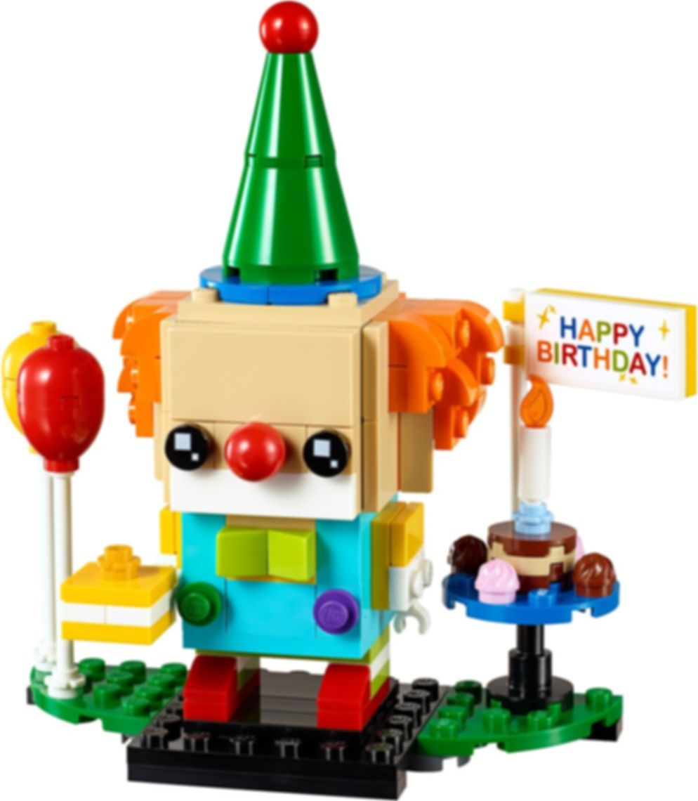 LEGO® BrickHeadz™ Birthday Clown components