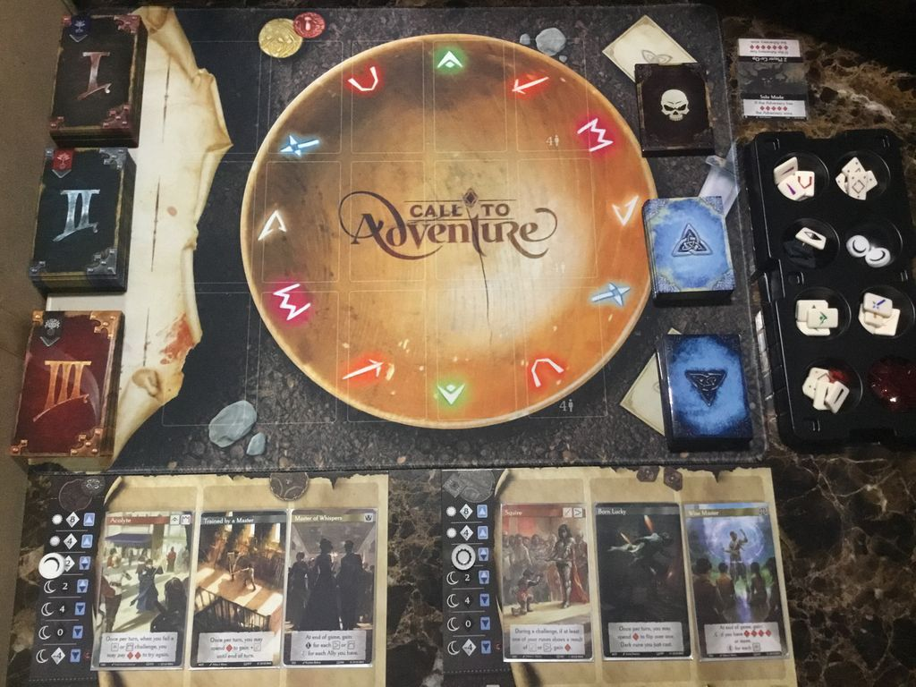 Call to Adventure game board