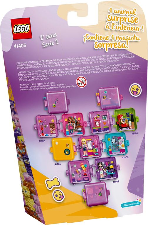 LEGO® Friends Andrea's Shopping Play Cube back of the box