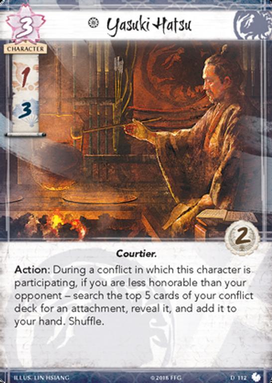 Legend of the Five Rings: The Card Game - Shoju's Duty Yasuki Hatsu card