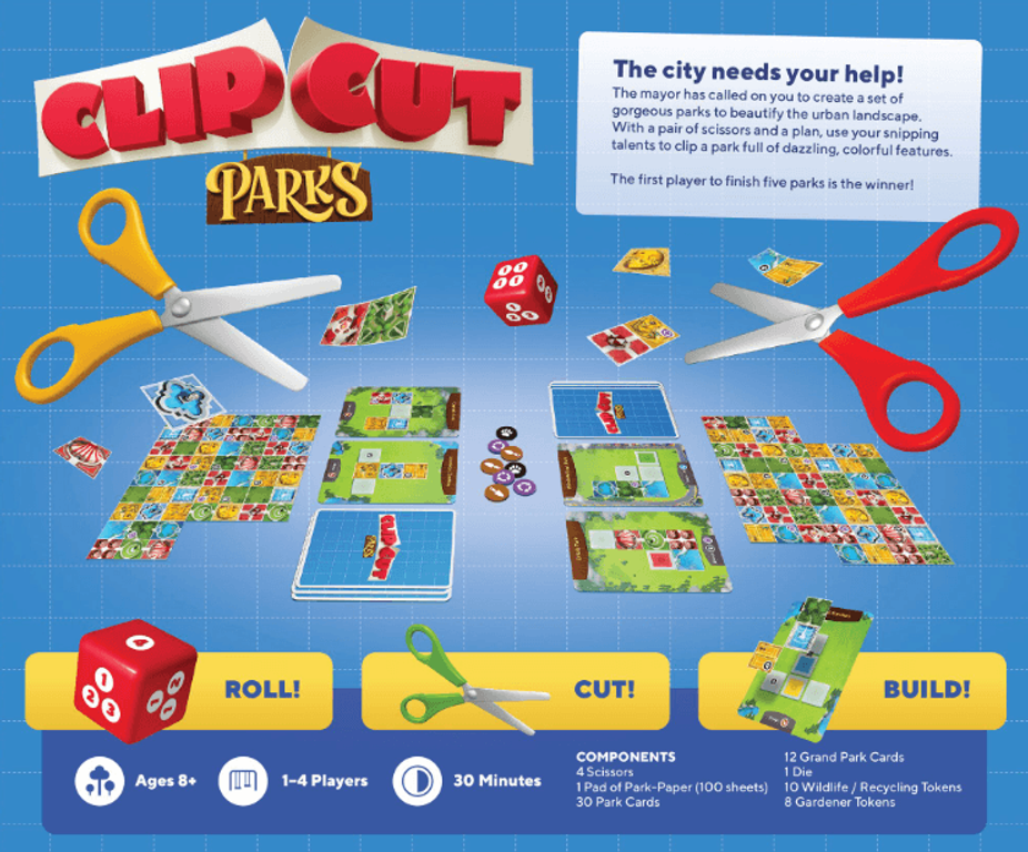 ClipCut Parks back of the box