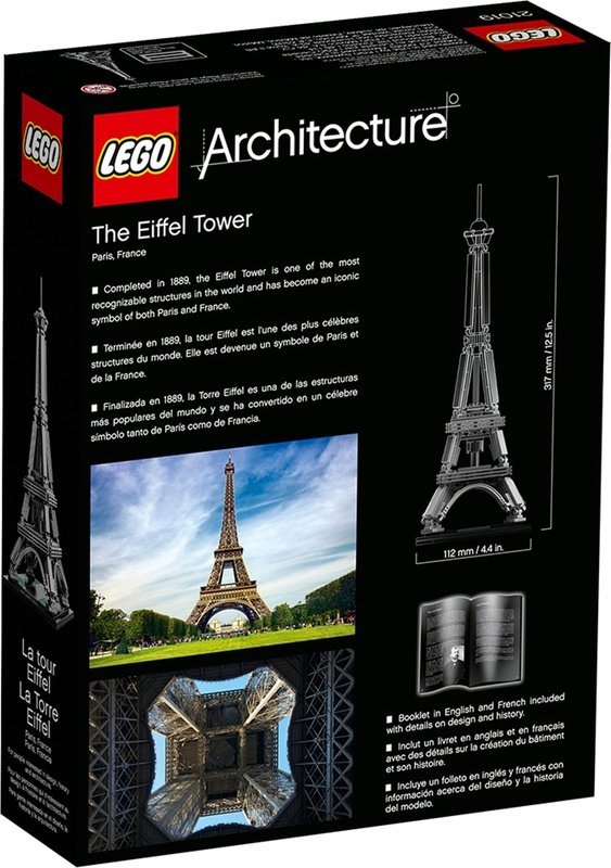 The Eiffel Tower back of the box