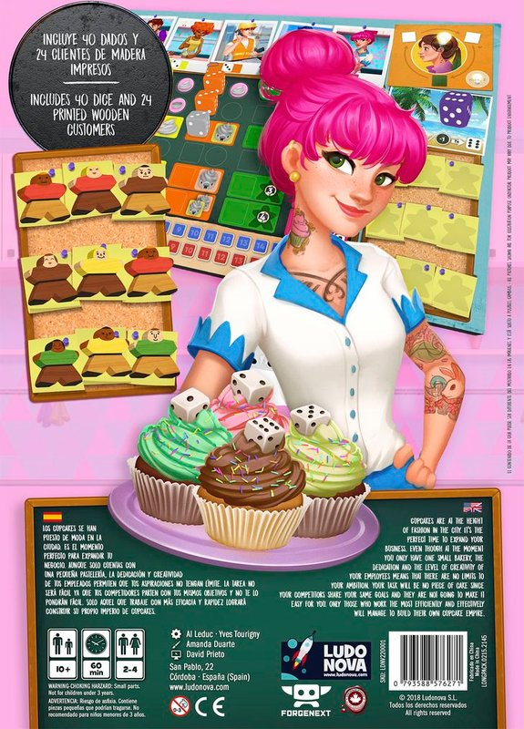 Cupcake Empire back of the box