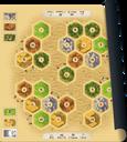 Catan playmat Desert components