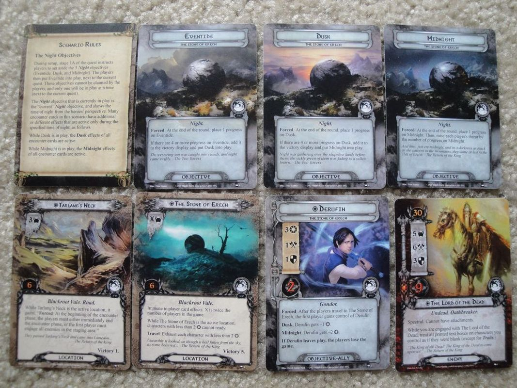 The Lord of the Rings: The Card Game - The Stone of Erech cards