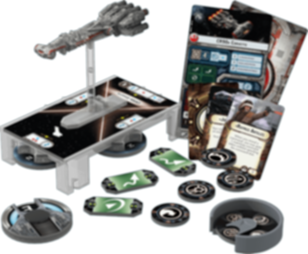 Star Wars: Armada - CR90 Corellian Corvette Expansion Pack components