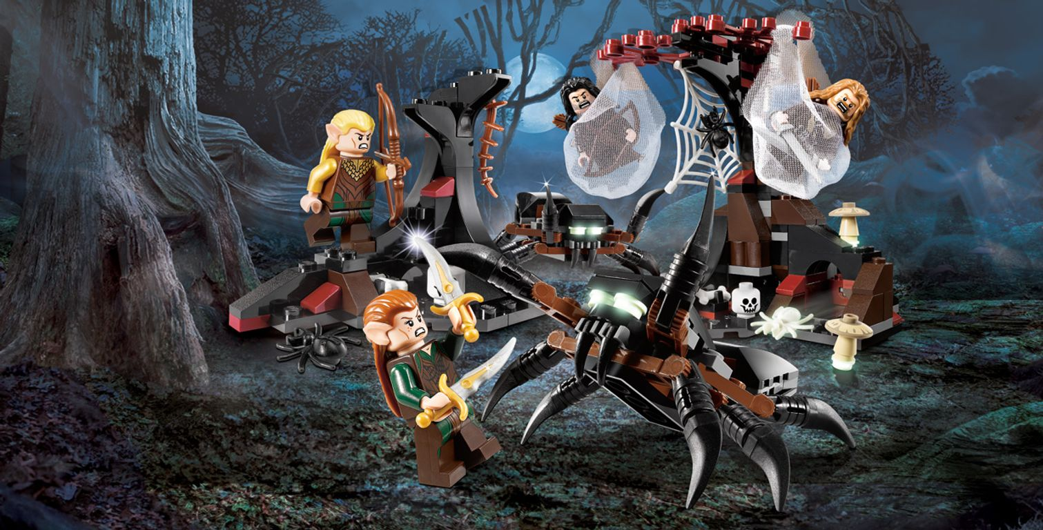 LEGO® The Hobbit Escape from Mirkwood Spiders gameplay