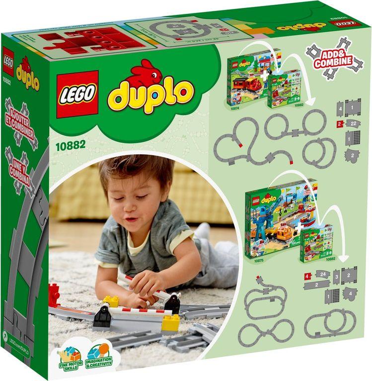 LEGO® DUPLO® Train Tracks back of the box