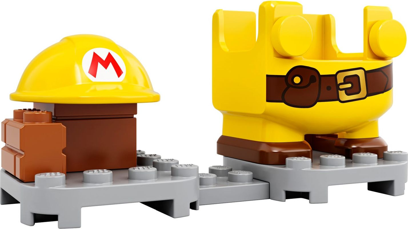 Builder Mario Power-Up Pack components