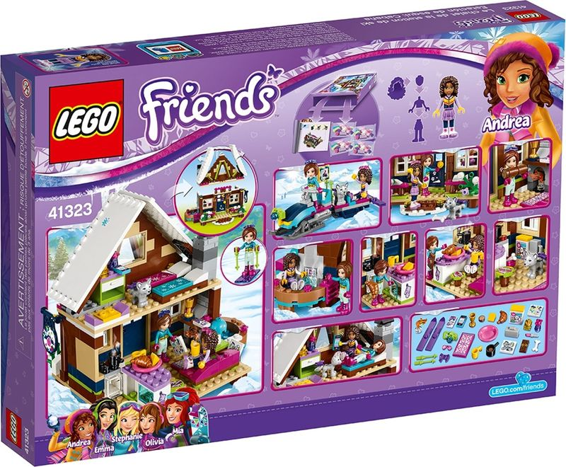 LEGO® Friends Snow Resort Chalet back of the box