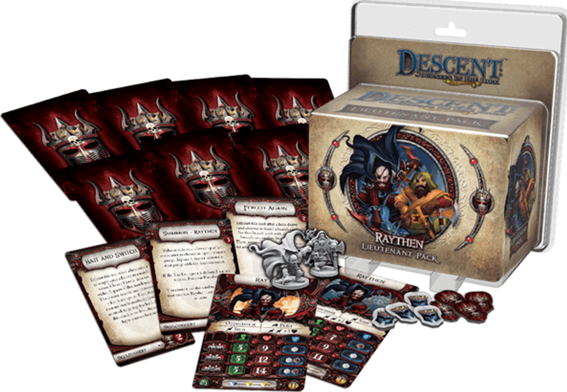 Descent: Journeys in the Dark (Second Edition) - Raythen Lieutenant Pack components
