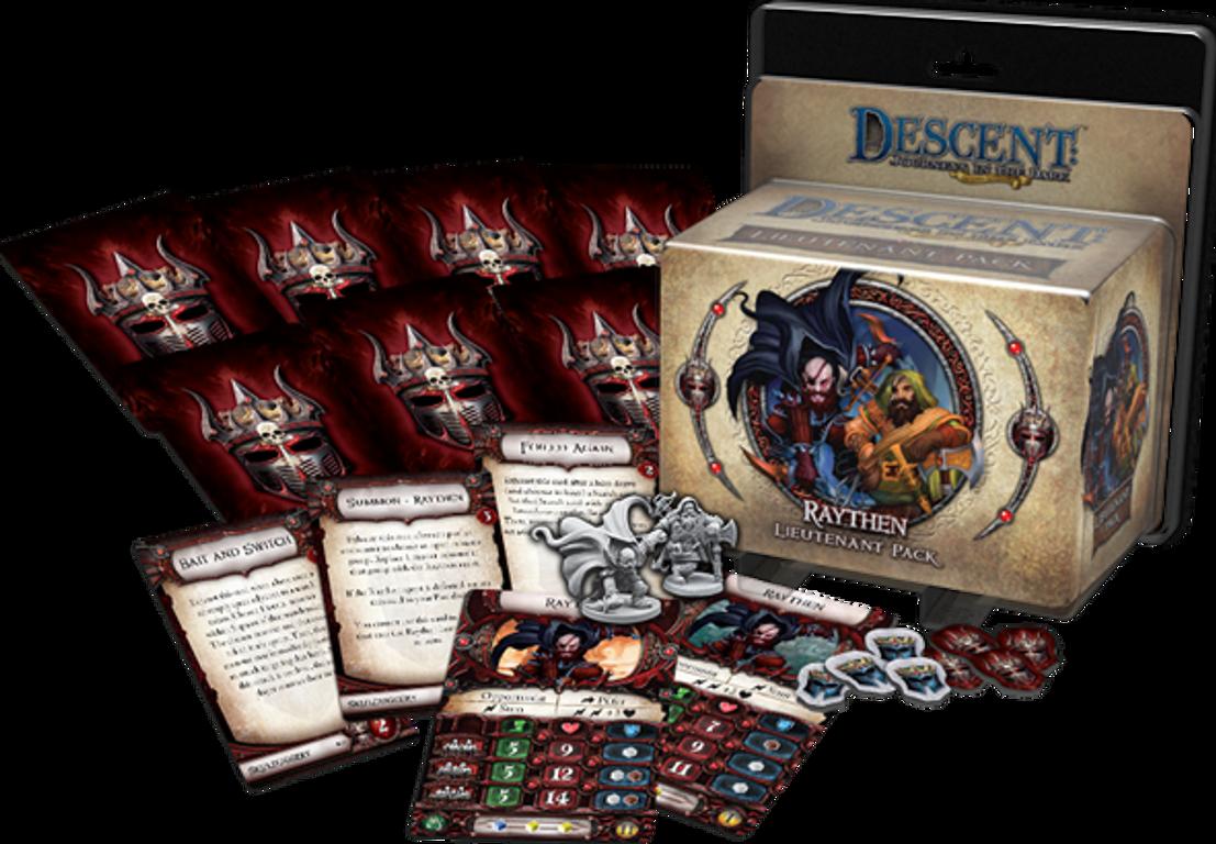 Descent: Viaggi nelle Tenebre (Seconda Edizione) - Pack Luogotenente Raythen componenti