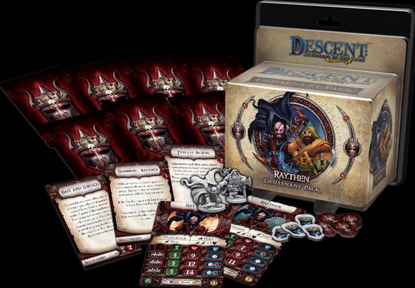 Descent: Journeys in the Dark (Second Edition) - Raythen Lieutenant Pack componenten