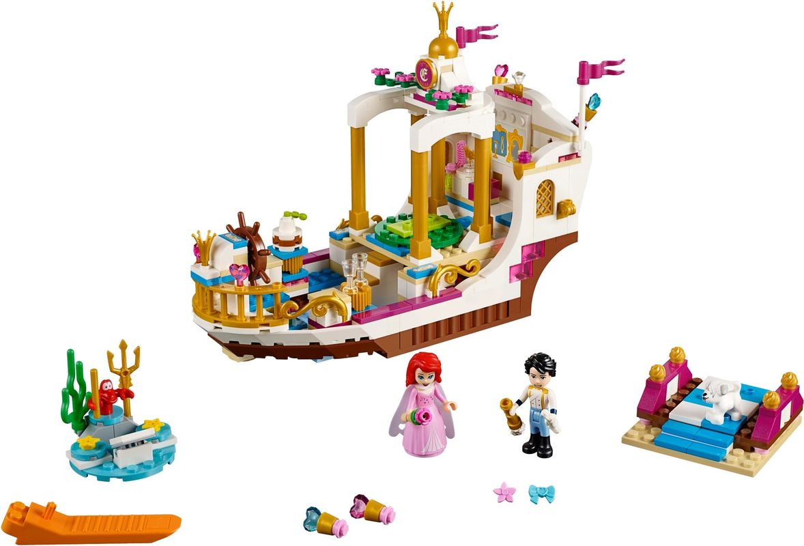 Ariel's Royal Celebration Boat components
