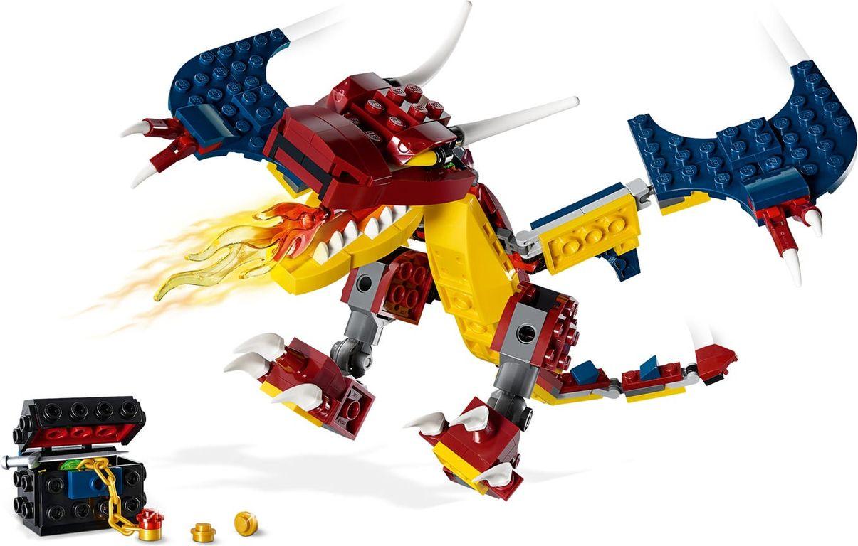 LEGO® Creator Fire Dragon components