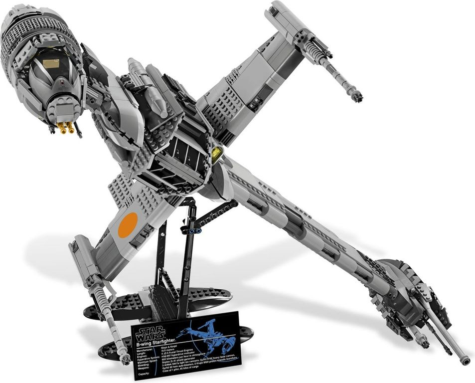 LEGO® Star Wars B-wing Starfighter components