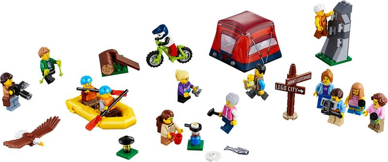 LEGO® City People Pack - Outdoor Adventures components
